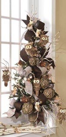 Świąteczna choinka z sówkami :)
