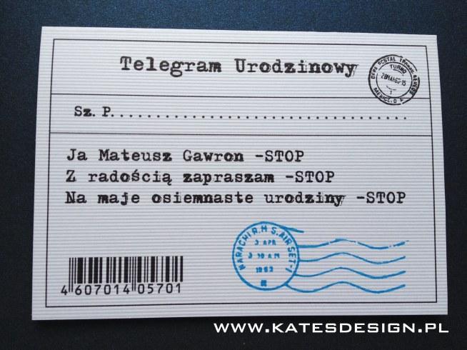Telegram Urodzinowy Kolekcja Wanted Na Zaproszenia Na 18 Stkę