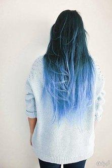 niebieskie włosy, ;)