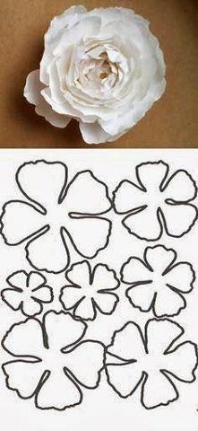 szablon na kwiat z papieru