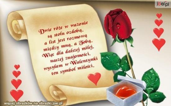 Róża I Wiersz Na Walentynki Zszywkapl