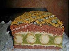 Ciasto Kremowe rurki w chałwowej masie