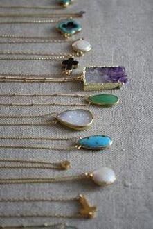 druzy pendants - piękna biżuteria z minerałami <3