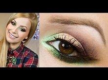 * GARDEN OF EDEN - Makijaż w odcieniach zieleni z dodatkiem złota