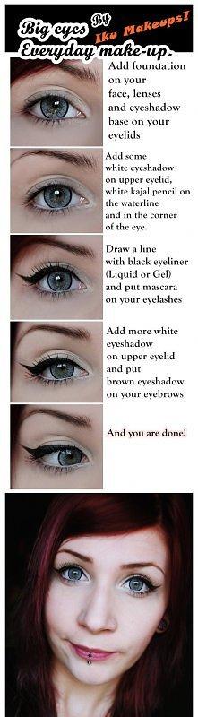 Big eyes make up.