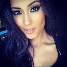 makijaż#oczy#piękna#kobieta#wytuszowane#brązowe#oczy