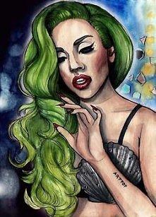 Lady Gaga...wyjątkowy rysunek.