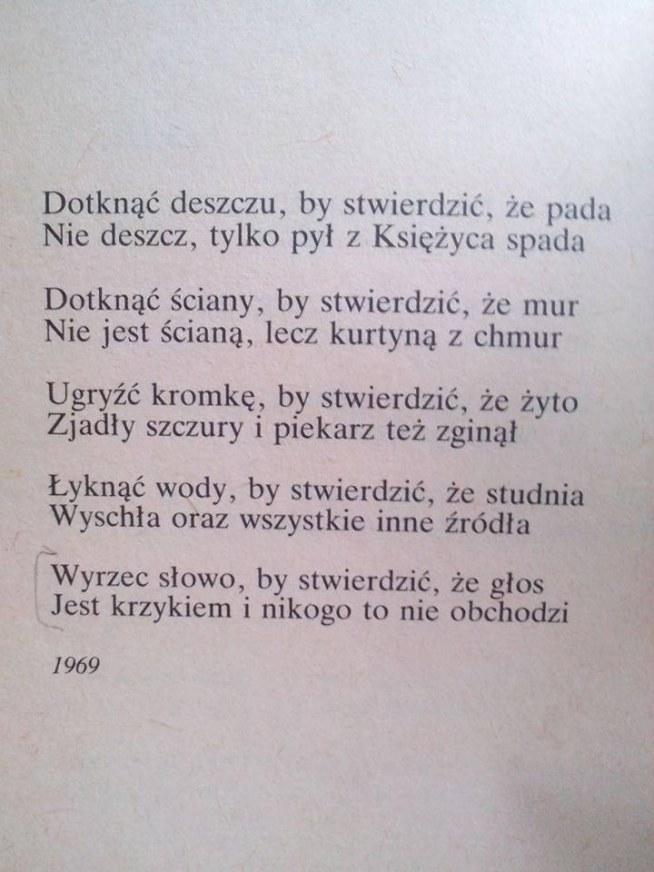 Wojaczek Na Wiersze Cytaty życie Zszywkapl