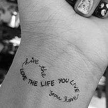 live the life you love/ love the life you live <33