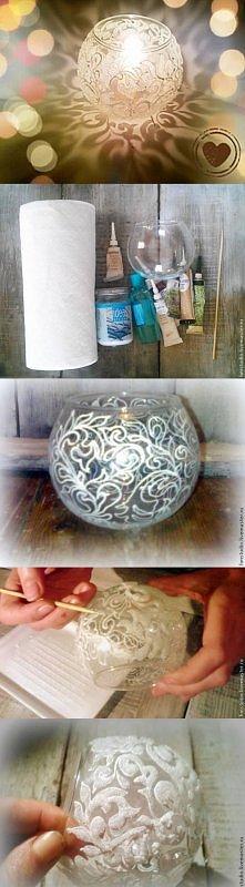 diy, frosty vase, frosty pa...