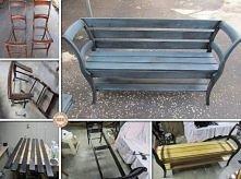 ławeczka z krzeseł