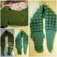 diy, crochet gator scarf pattern, scarft pattern