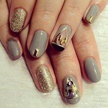 grey & gold