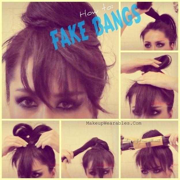 Jak zrobić grzywkę  z długich włosów