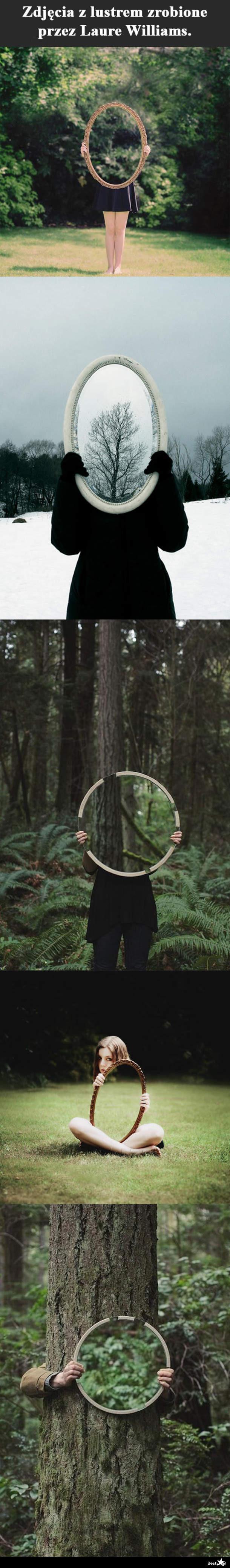 zdjęcia przy użyciu lustra
