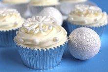 śniegowe muffinki