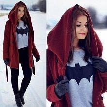 Zimowa stylizacja na Batman...