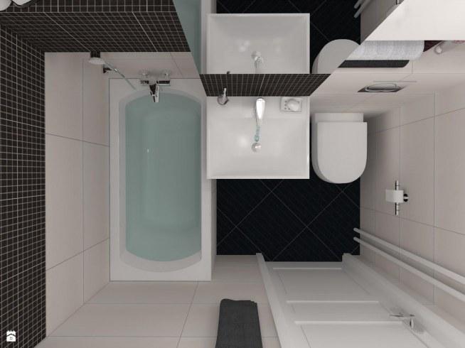 Mała łazienka Na Wystrój Wnętrz Zszywkapl