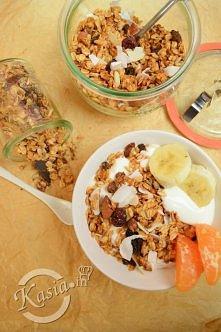 Granola kokosowo - czekoladowa  przepis po kliknięciu w zdjęcie
