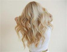 piękne fale blond