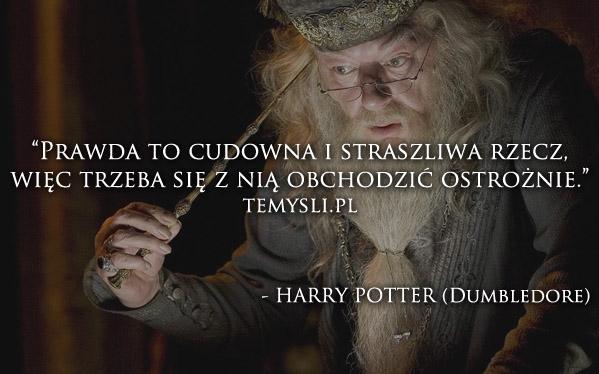 Harry Potter Dumbledore Na Cytaty I Teksty Słowa I Myśli Zszywkapl