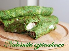 Naleśniki szpinakowe z wędzonym pstrągiem Ciasto:      1 op. rozdrobnionego m...