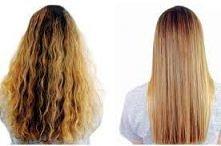 Kreatynowe prostowanie włosów *.* jedyna wada to cena i czas utrzymania się efektu..