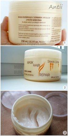 Do przetestowania:  Produkt przeznaczony do włosów i skóry zniszczonej po wszelkich zabiegach fryzjerskich. Maska zawiera jedwab i wyciąg z pestek słonecznika i innych roślin. P...