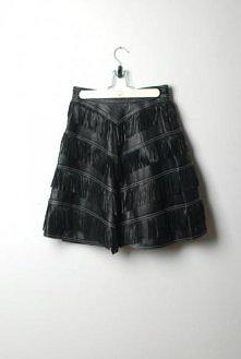 Versace - Skórzana spódnica z frędzlami