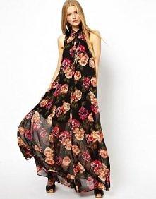 Asos - ASOS Maxi Dress With Halter In Floral