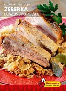 żeberka duszone po polsku