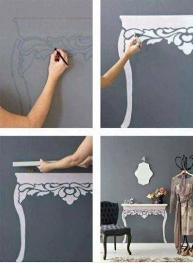 Łaadny :) Tylko ciekawe kto by mi tak ładnie narysował ten stolik na ścianie :)