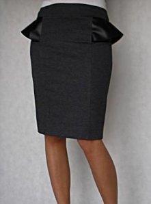 Kilar Fashion - Nowa KOLEKCJA jesień2013 Spódnica ołówkowa Baskinka z skórzanymi wstawkami ...