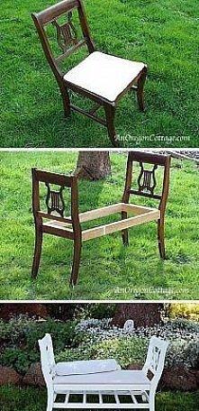 ławka z krzeseł