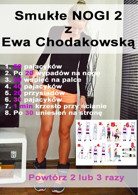 Dziewczyny wrzucam kolejną dawkę ENDORFIN ! <3 Wyzwanie od Ewy Chodakowskiej - Smukłe nogi ;D