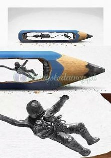 zniewalająca rzeźba w ołówku