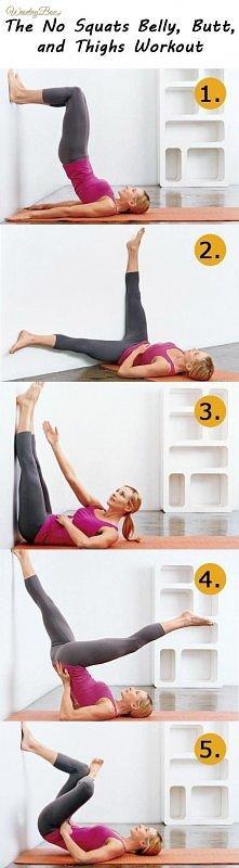 Nie chodzisz na siłownie? Wykorzystaj meble, tutaj ćwiczenia na brzuch, uda i pośladki przy pomocy ściany ;)