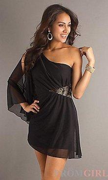 Sukienka na jedno ramię.