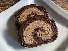 Rolada czekoladowa, musisz spróbować, prosta, smaczna i szybka.