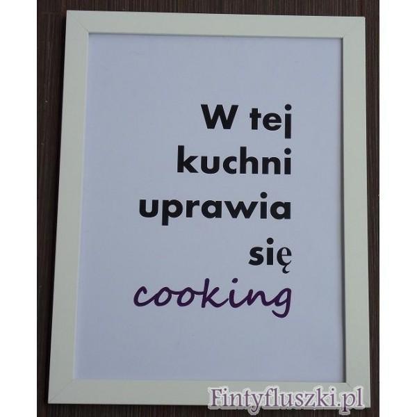 Plakat Z Ramą 34x44cm Wyraź Siebie W Kuchni Na