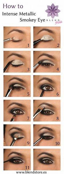 Makijaże powiększające oko, instrukcje
