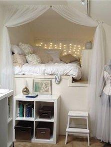 wysokie łóżko