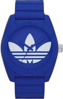 Granatowo - biały zegarek m...