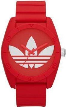 Czerwono - biały zegarek ma...