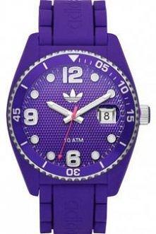 Fioletowy zegarek marki Adi...