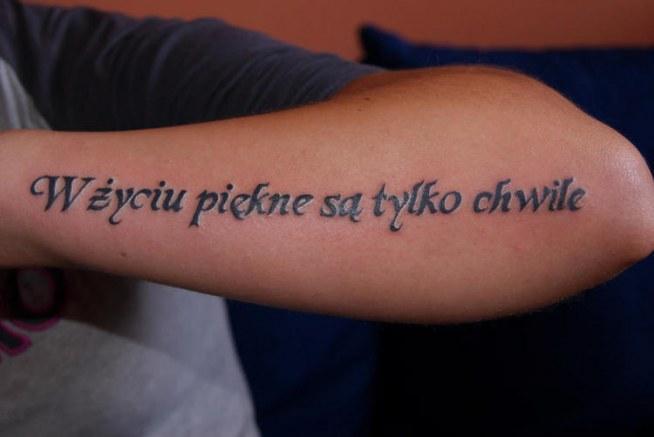W życiu Piękne Są Tylko Chwile Na Tatuaże Zszywkapl