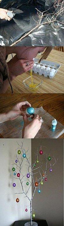 drzewko na Wielkanoc