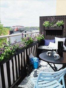 przytulny balkon: dywanik, ...