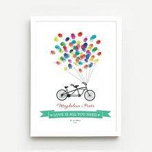 Spersonalizowany plakat ślubny,który stanowi wspaniałą alternatywę dla popularnej księgi gości. Może też stać się wspaniałym prezentem dla Pary Młodej! Plakat sprzedawany w form...