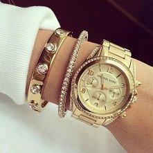zegarek i bransoletki <3